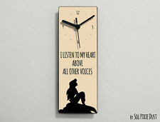 Ariel The Little Mermaid-I Listen to my heard above all other voices- Wall Clock