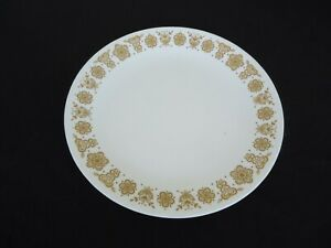 VINTAGE CORELLE by CORNING ware GOLD BUTTERFLY 26CM DINNER PLATE