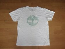 Timberland White 'Green logo' mens T-shirt size XL