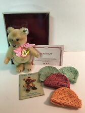 """STEIFF  6"""" Jackie Bear 1953, SWEET SIXTEEN Excellent Collectible Replica Germany"""