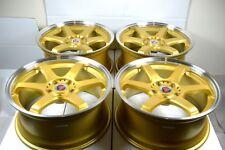 18 gold Wheels RSX TL Matrix 300ZX IS250 IS250 Sonata Solara Optima Rims 5x114.3