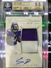 2015 National Treasures Stefon Diggs 25/25 Holo Silver RC Rookie Auto BGS 9.5/10