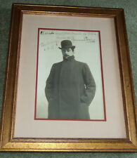 INSCRIBED & SIGNED PUCCINI IMPERIAL CABINET PHOTO - Great Italian OPERA composer