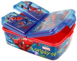 Spiderman Brotdose 3-Fächer Kindergarten Lunchbox Marvel Avengers Butterbrotdose