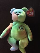 Peace Beanie Baby with tag errors in MINT condition.  Rare!    REDUCED PRICE