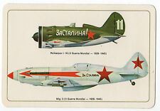 1985 Portugese Pocket Calendar Soviet WW2 Aircraft Polikarpov I-16 & Mig-3