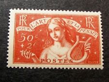 France  Stamp Scott#  B43 Symbolic of Music  1935  MH  C424