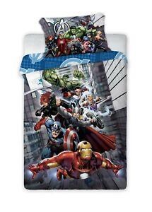 Marvel Avengers Shield Single Reversible Duvet Cover Bedding Set 100% Cotton