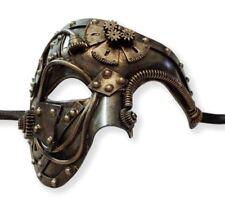 Antique Gold Steampunk Phantom Masquerade Mask Men