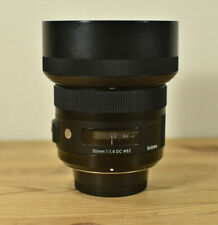 SIGMA ART 30MM 1:1.4 DC LENS FOR NIKON CAMERAS WITH CAPS, HOOD & CPL FILTER