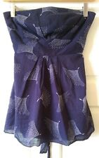Monsoon Bandeau Top, Navy & White, Size 8, Brand New, Without Tags!