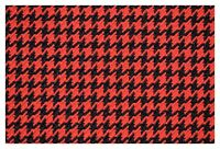 "Red and Black Houndstooth Canvas Tweed Fabric 55""W Seat Upholstery Automotive"