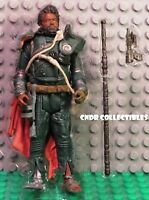 "Star Wars Rogue One Jedha Revolt LOOSE 3.75"" Figure SAW GERRERA with staff & gun"