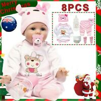 22'' Reborn Baby Dolls Real Life Like Looking Newborn Baby Girl Doll+clothes AU