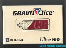 ULTRA PRO 2- D6 RED Crimson Gravity PRECISION Dice Aircraft Aluminum