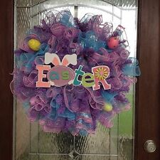 """Easter Deco Mesh Wreath """" FREE SHIPPING """""""