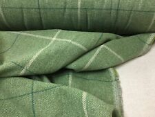 Arran Moss Green  Wool Type Pin Check   Upholstery/Curtain/Craft Fabric