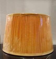"BNWT LAURA ASHLEY 12"" x 7.5"" MANGO OMBRE PLEATED LIGHT / LAMP SHADE £55"