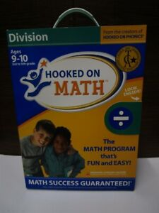 Software PC Hooked On Math DIVISION Ages 9-10 3rd-5th grade NEW SEALED Big Box