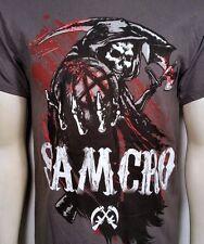 Sons Of Anarchy Cepillado Aguantando Bola Segador Soa Samcro Camiseta S-3XL