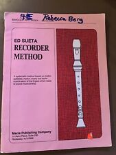 Baroque Recorder Book One By Macie Publishing Copyright 1992