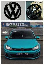 GRILLE & HATCH BADGE FOR VW VOLKSWAGEN GOLF7 MK7 MKVII GTI OR GOLF R GLOSS BLACK