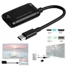 USB-C TypeC to HDMI Converter Cable USB3.1 MHL Adapter Phone For Android N8F9