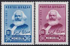 MONGOLIE N°291/292**   Karl Marx  TB, 1963 MONGOLIA MNH