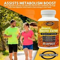 Digestive Enzymes Capsules - Health Natural Diet and Bloating - Amylase Lipase