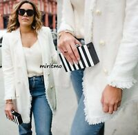 ZARA JACKET FRAYED WITH PEARL CREAM WHITE BUTTONS TWEED COAT BLAZER - XS