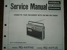 Panasonic RQ-447FHS RADIO REGISTRATORE A CASSETTE MANUALE SERVIZIO diagramma di cablaggio parti