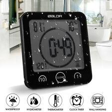 Digital Waterproof Shower Clock Temperature Sensor Wall Countdown Bathroom Timer