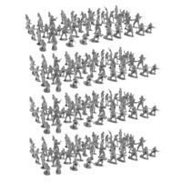 Army Base Set 400pcs 2cm Soldiers Toy Figures Military Sand Scene ACCS Black
