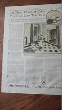 1925 VINTAGE PRINT AD FOR Armstrong Linoleum for every floor