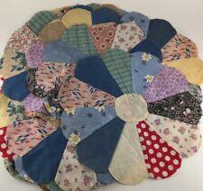 "20 quilt blocks Dresden Plate scalloped 13"" machine stitched"