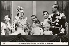 the Queen Acknowledges the Acclamation of Her People - Tuck R.Photo Postcard