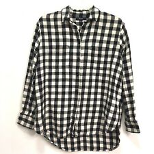 Madewell Checkered Plaid Flannel Blouse Button Down Long Sleeve XS