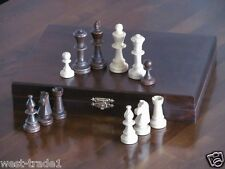 BRAND NEW♚  DELUXE STAUNTON TOURNAMENT WOODEN CHESS PIECES WITH STORAGE CASE♚