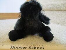 Ganz Webkinz Black Poodle Puppy Dog  Plush Soft Toy Baby Fuzzy Cuddle