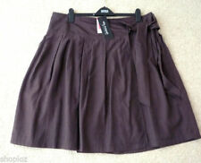 Silk Patternless Plus Size Skirts for Women
