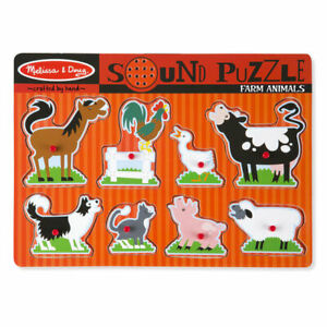 Melissa & Doug Sound Puzzle ~ Farm Animals 8pc 2+