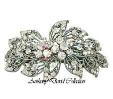 Anthony David Silver Metal Aurora Borealis Crystal Bridal Hair Accessory Clip