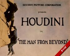 MAGICIAN HARRY HOUDINI MOVIE POSTER MAGIC ART PAINTING REAL CANVAS PRINT