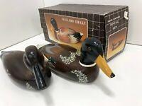 Kmart Pintail Hen Open Box & Mallard Drake used wooden Duck Decoy