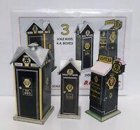 1920s - 1950s AA TELEPHONE BOX x 3 54mm 1/32 scale model full colour A5 card kit