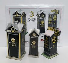 1920s - 1950s AA TELEPHONE BOX x 3 54mm 1/32 scale model full colour A5 card kit