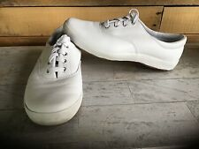 Keds Women's White Leather Lace-Up Sneakers Size 7.5M