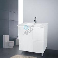 750x460x850mm Freestanding Bathroom Vanity Ceramic Basin Cabinet Unit White NEW