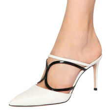 Sexy Women High Heels Mules Slipper Pointy Toe Stilettos Evening Shoes Plus Size