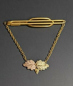 10k Black Hills Gold Tie Clip w/ Chain Anson